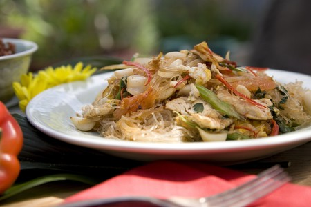Thai food delicacies presented in traditional settings Stock Photo - 7921107