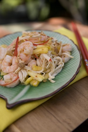 Thai food delicacies presented in traditional settings Stock Photo - 7921093