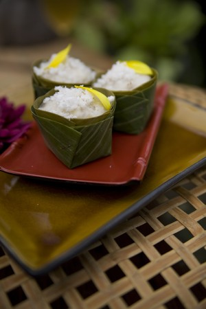 Thai food delicacies presented in traditional settings Stock Photo - 7921068