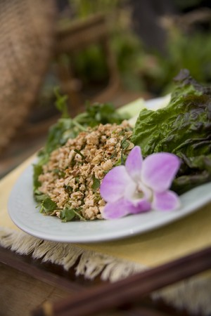 Thai food delicacies presented in traditional settings Stock Photo - 7921079