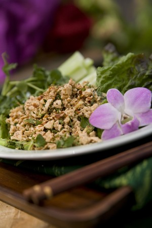 Thai food delicacies presented in traditional settings Stock Photo - 7921088
