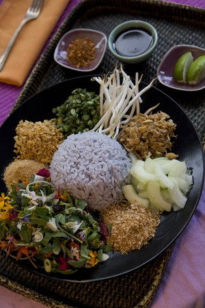 Thai food delicacies presented in traditional settings Stock Photo - 7921131