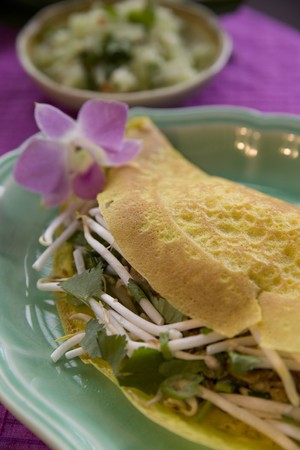 Thai food delicacies presented in traditional settings Stock Photo - 7921116