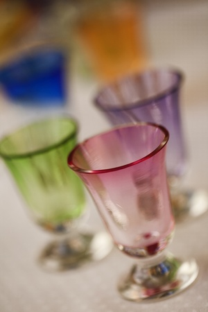Colorful handblown glasses Stock Photo - 12421248