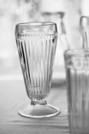 Vintage dishware, glasses, plates, silvware, cooking untensils, glasses, cups, bowls, mid-century, modern, antique Stock Photo - 12745897