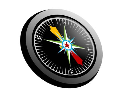compass on isolated background