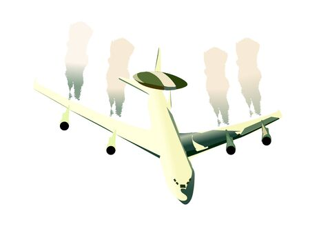 aeroplane on isolated background   photo