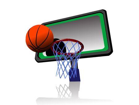 nba: basket ball on isolated background