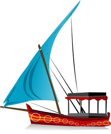 boat on isolated background