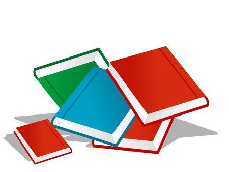 books on isolated background  Stock Photo - 3308480