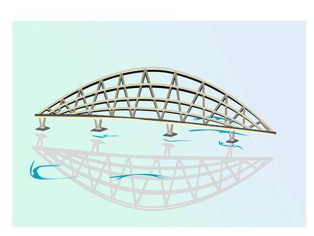 iron bridge on isolated background