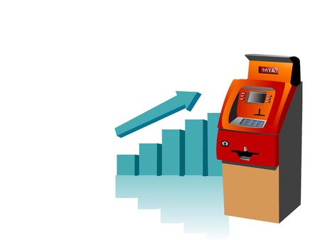 atm machine with bar graph Stock Photo - 3307944