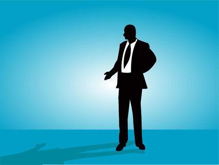 man on gradient background Stock Photo - 3307541