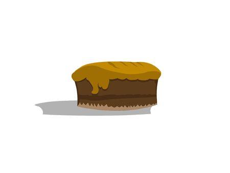 whole cake on isolated background   photo