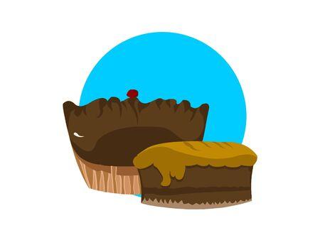 cakes on circular background   photo