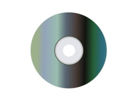 compact disk on isolated background
