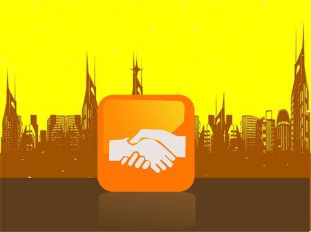 achivement: achivement in profession on cityscapernrnrn Stock Photo