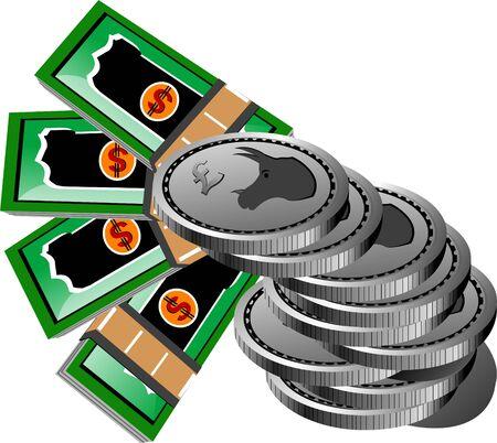 change money on isolated background     photo