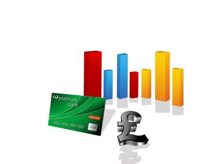 platinum card with bars on isolated background\r\n\r\n\r\n 版權商用圖片