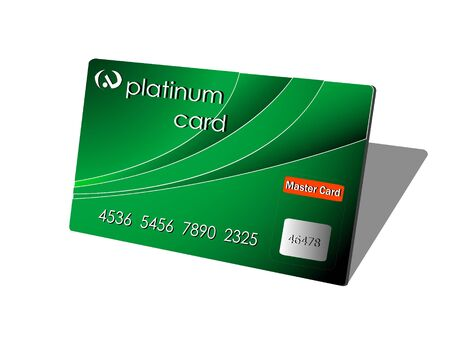 platinum: platinum card on isolated backgroundrnrn