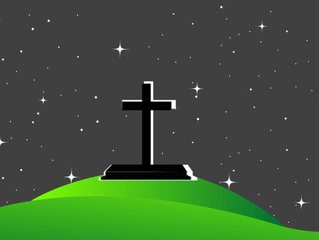 cross with stars photo