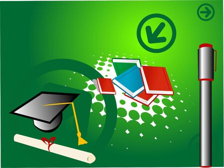 notebook,mortarboard and certificate