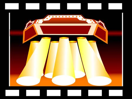 theatre on abstract background     photo