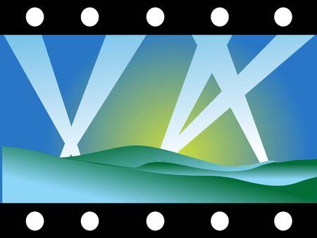 negativity: film reel showing