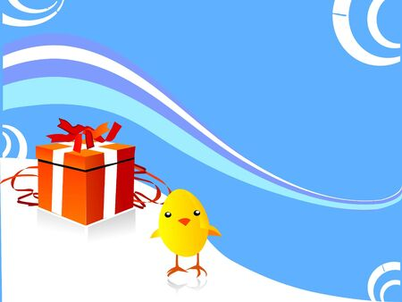 gift box with chicken photo