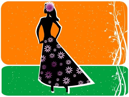 sparkled: lady posing on sparkled background