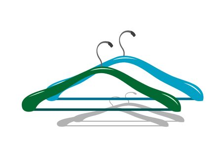 hangers on isolated background     Stock Photo