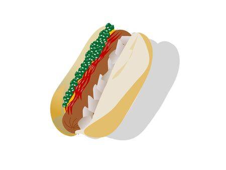 junkfood: hot dog on isolated background