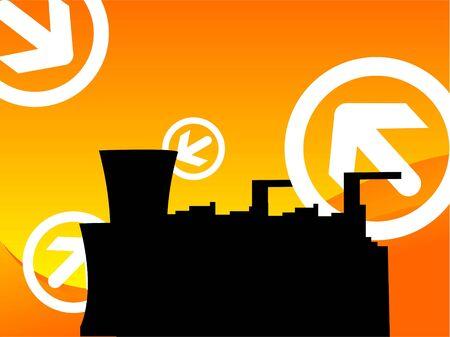 industry on arrows gradient background     Zdjęcie Seryjne