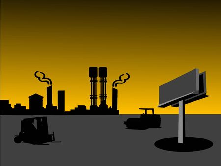 premises: industry premises on gradient background