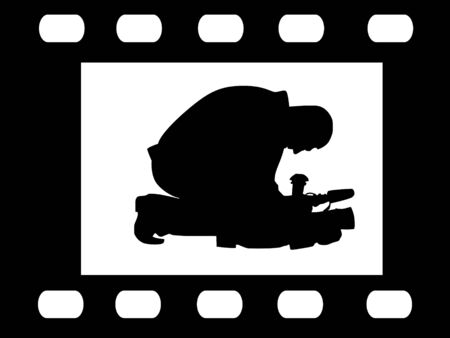filmmaker: silhouette of filmmaker on abstract background