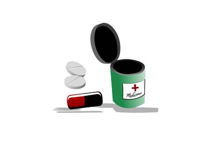 pills jar on isolated background Stock Photo - 3307416