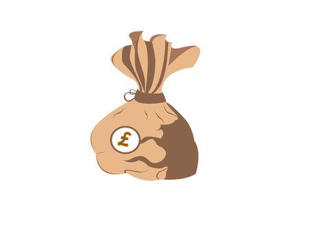 分離の背景にお金の袋