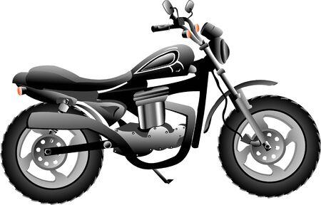 motor bike on isolated background     photo