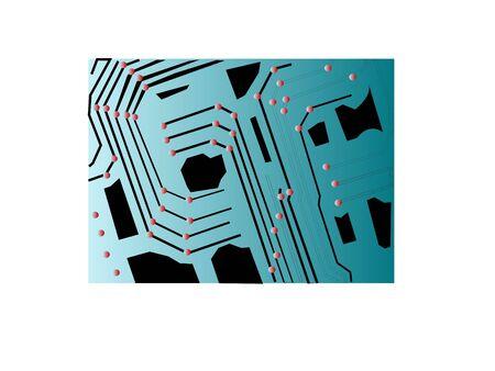 Motherboard-Chip auf isolierte Hintergrund  Standard-Bild - 3309248