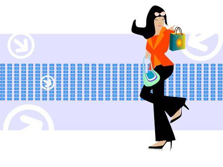 handbag model: lady with handbag on text template background   Stock Photo