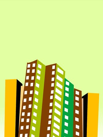 residencial: beautiful town on abstract background     Stock Photo
