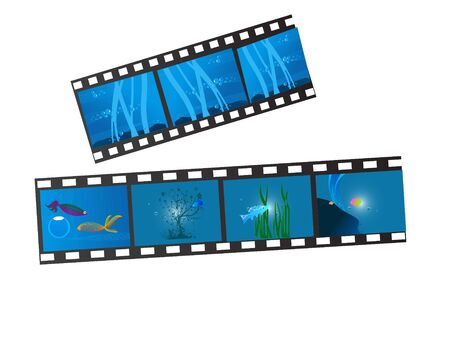 negativity: sea life on film strip