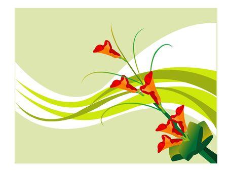 nice bouquet on swirly background