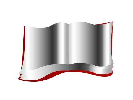 boek op zichzelf staande achtergrond openen