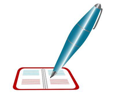pen on notebook  Stock Photo - 3308534