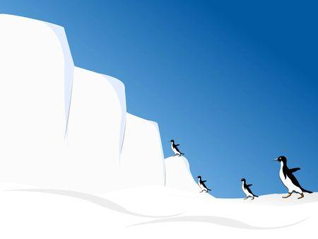 penguins on iceland     Reklamní fotografie