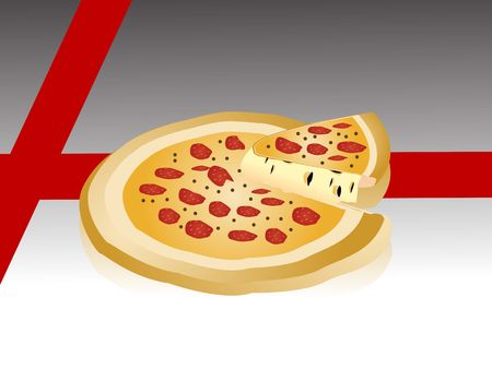 cheese pizza on monocolor background     photo