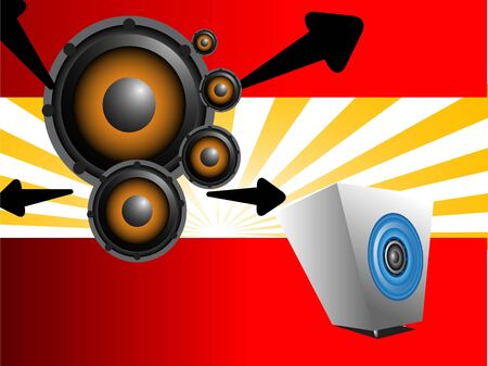woofer: speaker and woofer on abstract background   Stock Photo