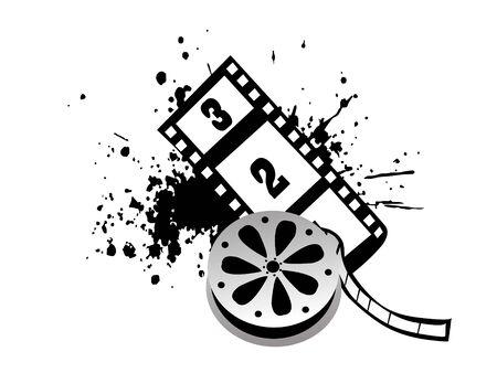 movie reel with grunge