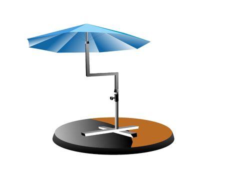 孤立した背景に折りたたみ傘   写真素材 - 3307605